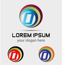 Letter O logo symbol elements vector