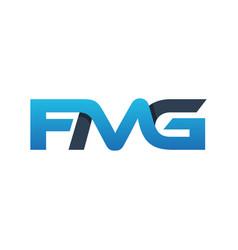 logo design letter fmg monogram vector image