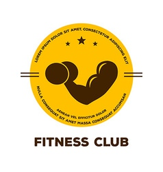 Logo for fitness club vector
