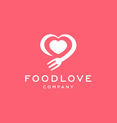 Love food restaurant logo design vector