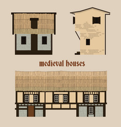 medieval town houses vector image