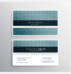Minimal pattern company business card vector