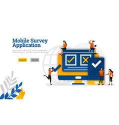 mobile survey application to choose to agree vector image