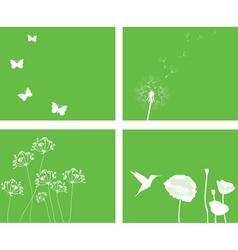 nature set vector image
