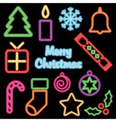 Neon Christmas vector