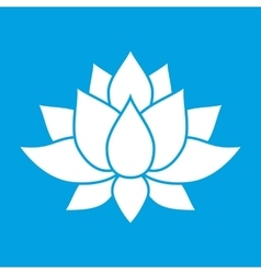 Nice lotus flower sign vector