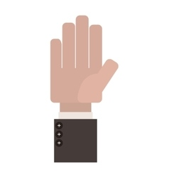 Open Palm of hand with formal suit sleeve vector