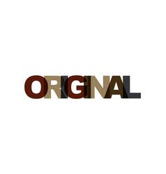 original phrase overlap color no transparency vector image