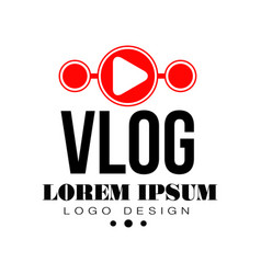 original vlog or digital online blog badge with vector image