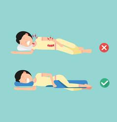 orthopedic pillows for a comfortable sleep vector image