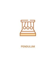 Pendulum concept 2 colored icon simple line vector