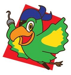 Pirate Bird Fly vector