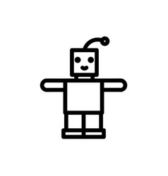 robot thin line icon outline symbol newborn baby vector image