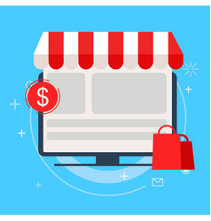 sales landing page onine shopping vector image