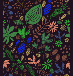 seamless floral pattern in vector image