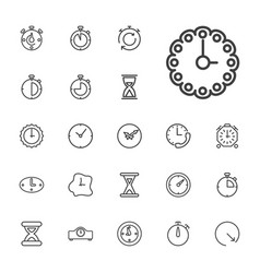 Second icons vector