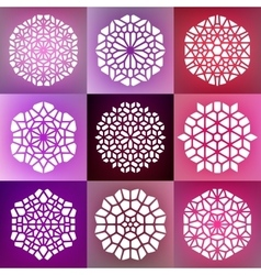 Set of Nine Decorative Mandala Ornaments vector image