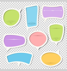 set paper speech bubbles with calligraphic vector image