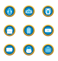 shopping bag icons set flat style vector image