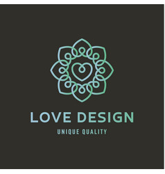 sign love on wedding agency quality flat trend vector image