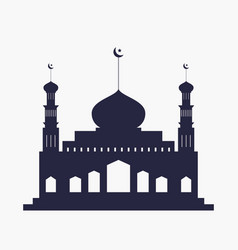 silhouette mosque vector image