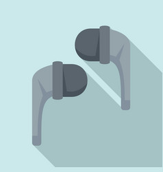 stereo wireless earbuds icon flat style vector image