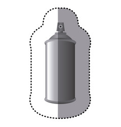 sticker gray aerosol spray metal 3d bottle can vector image