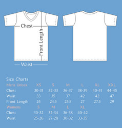 T shirt template back and front vector
