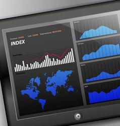 Tablet diagram display vector