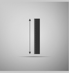 The measuring height and length icon isolated on vector