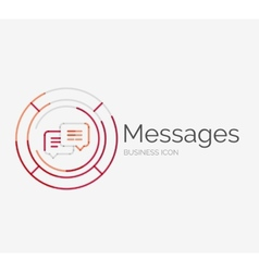 Thin line neat design logo messages concept vector