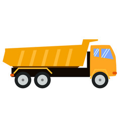 tipper truck dump truck cartoon style childlike vector image