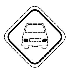 traffic signal with car vector image