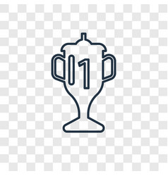 trophy linear icon isolated on transparent vector image