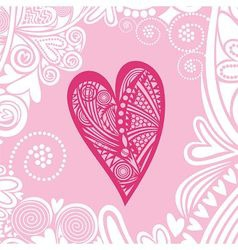 Valentines day card heart pattern vector