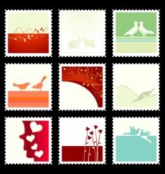 Valentine's stamps vector image