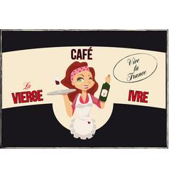 Vintage bar poster vector