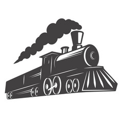 Vintage train isolated on white background design vector