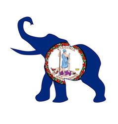 virginia republican elephant flag vector image