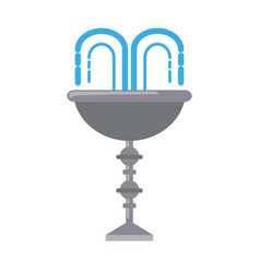 Water fountain design vector