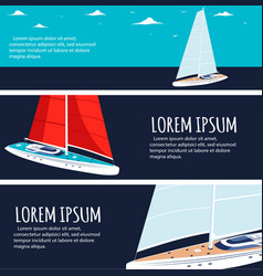 Yacht club flyers design with sail boat vector