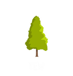 Yew tree icon flat style vector