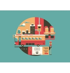City bus conceptual icon vector image vector image