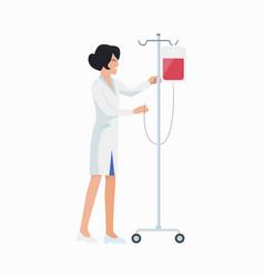 nurse with dropper icon vector image vector image