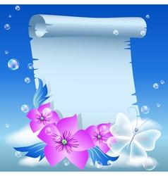 parchment vector image