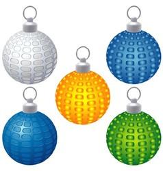 Textured Christmas Balls vector image