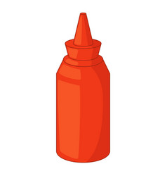 bottle of ketchup icon cartoon style vector image vector image