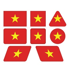 buttons with flag of Vietnam vector image