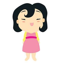 cartoon baby girl vector image vector image