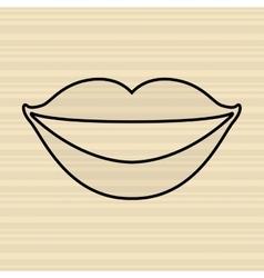 mouth icon design vector image
